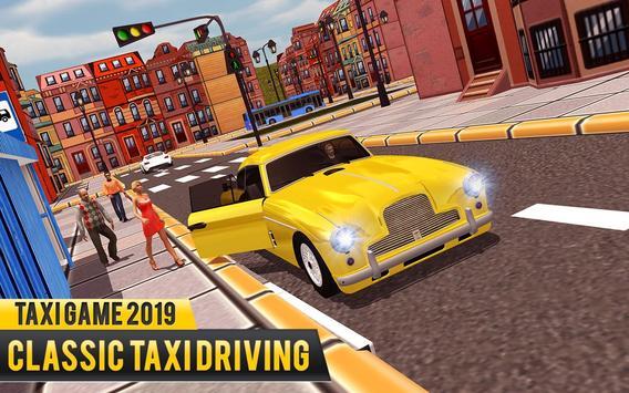 NY Taxi Driving 2019 : Yellow Cab Parking Mania screenshot 5