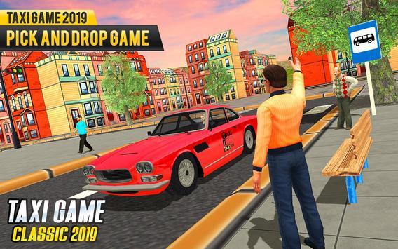 NY Taxi Driving 2019 : Yellow Cab Parking Mania screenshot 8