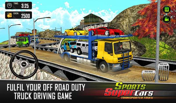 Car Transporter Euro Truck: Free Driving Games screenshot 4