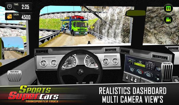 Car Transporter Euro Truck: Free Driving Games screenshot 2