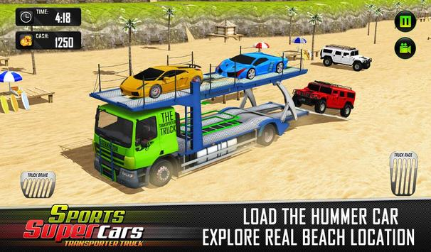 Car Transporter Euro Truck: Free Driving Games screenshot 5