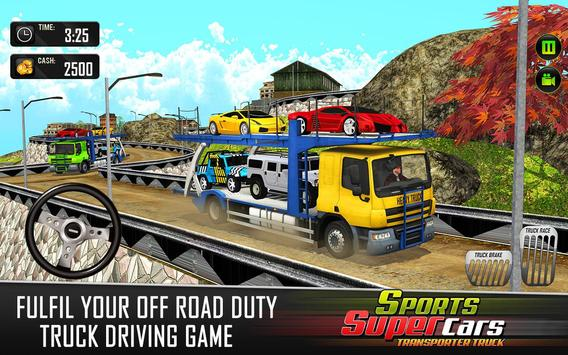 Car Transporter Euro Truck: Free Driving Games screenshot 10