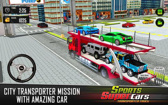 Car Transporter Euro Truck: Free Driving Games screenshot 7