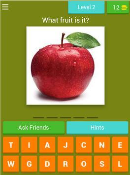 Word puzzle: English fruit vocabulary - WIN PRIZE screenshot 16