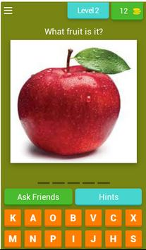 Word puzzle: English fruit vocabulary - WIN PRIZE screenshot 2