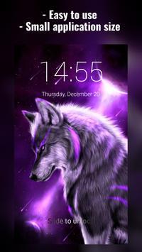 Fantasy Wolf Lock Screen poster