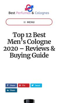 Men's Cologne Buying Guide poster