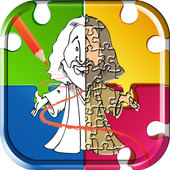Bible coloring pages & jigsaw icon