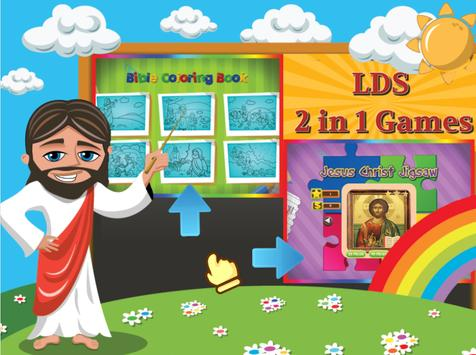 Bible coloring pages & jigsaw poster