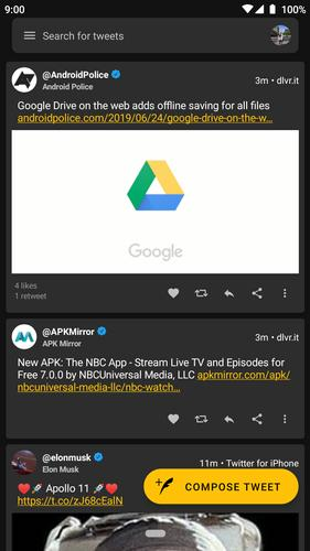 twitter app for android tv