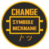 Symbol Nick Maker & Changer For Free Fires or PUBツ icon