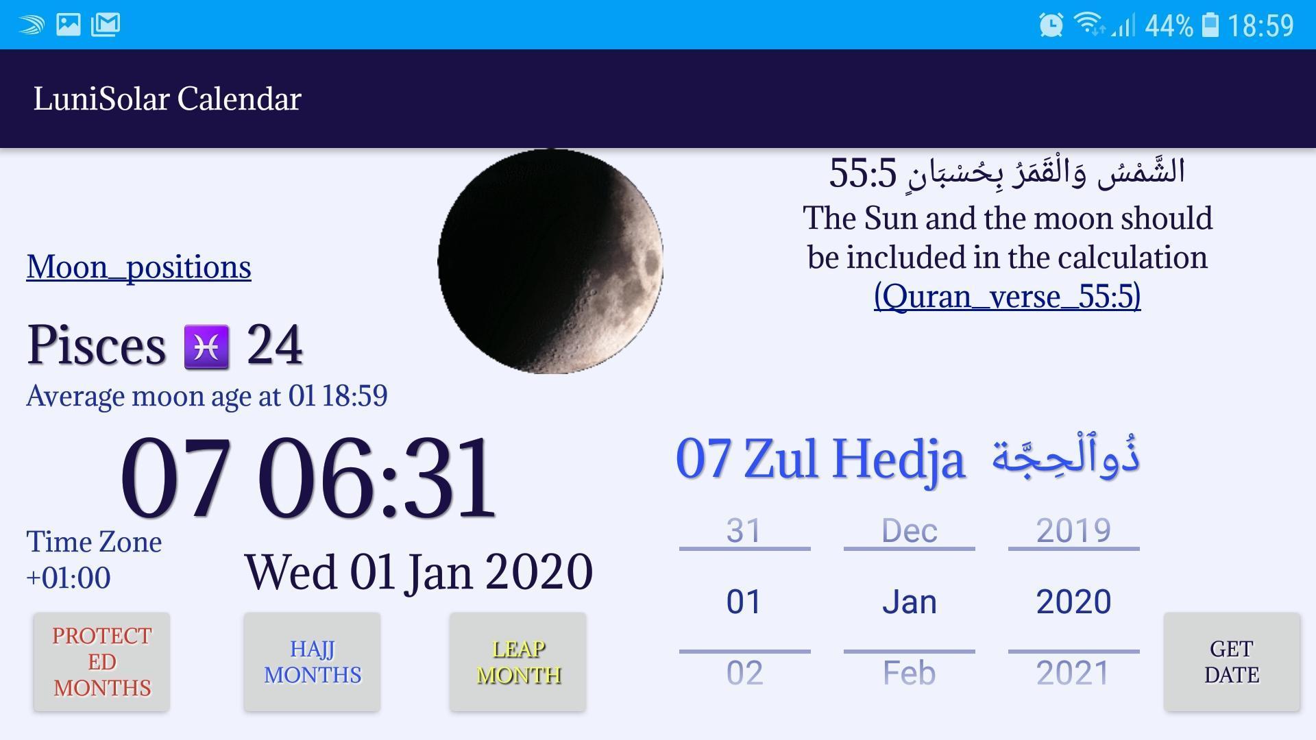 Calendrier Solaire 2021 Calendrier solaire lunaire pour Android   Téléchargez l'APK