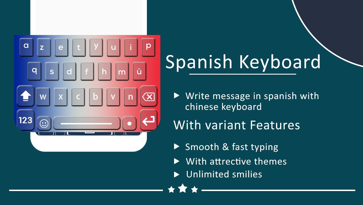 Spanish Keyboard New Easy Spanish English Typing For Android