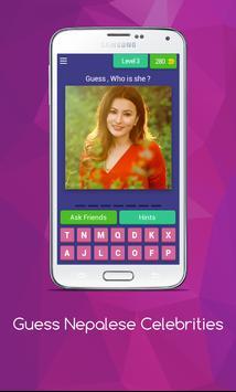 Guess Nepalese Celebrities screenshot 3