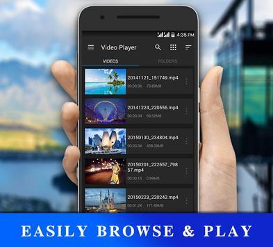 Reproductor de video HD captura de pantalla 1