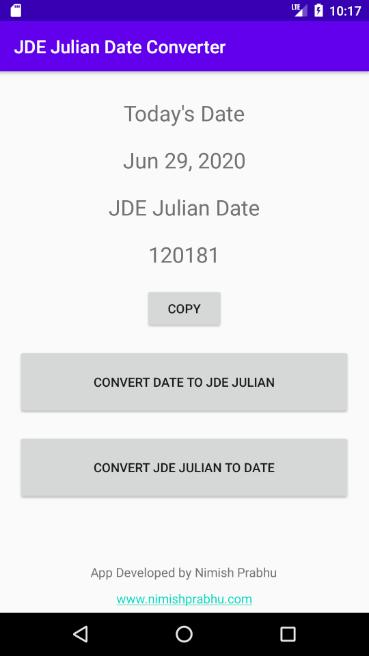 Today date julian is what Free online