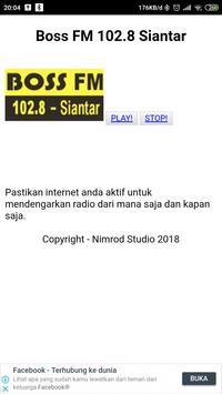 Radio Boss FM Siantar 102.8 screenshot 1