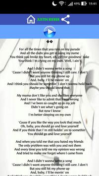 Sorry Lyrics for Android - APK Download