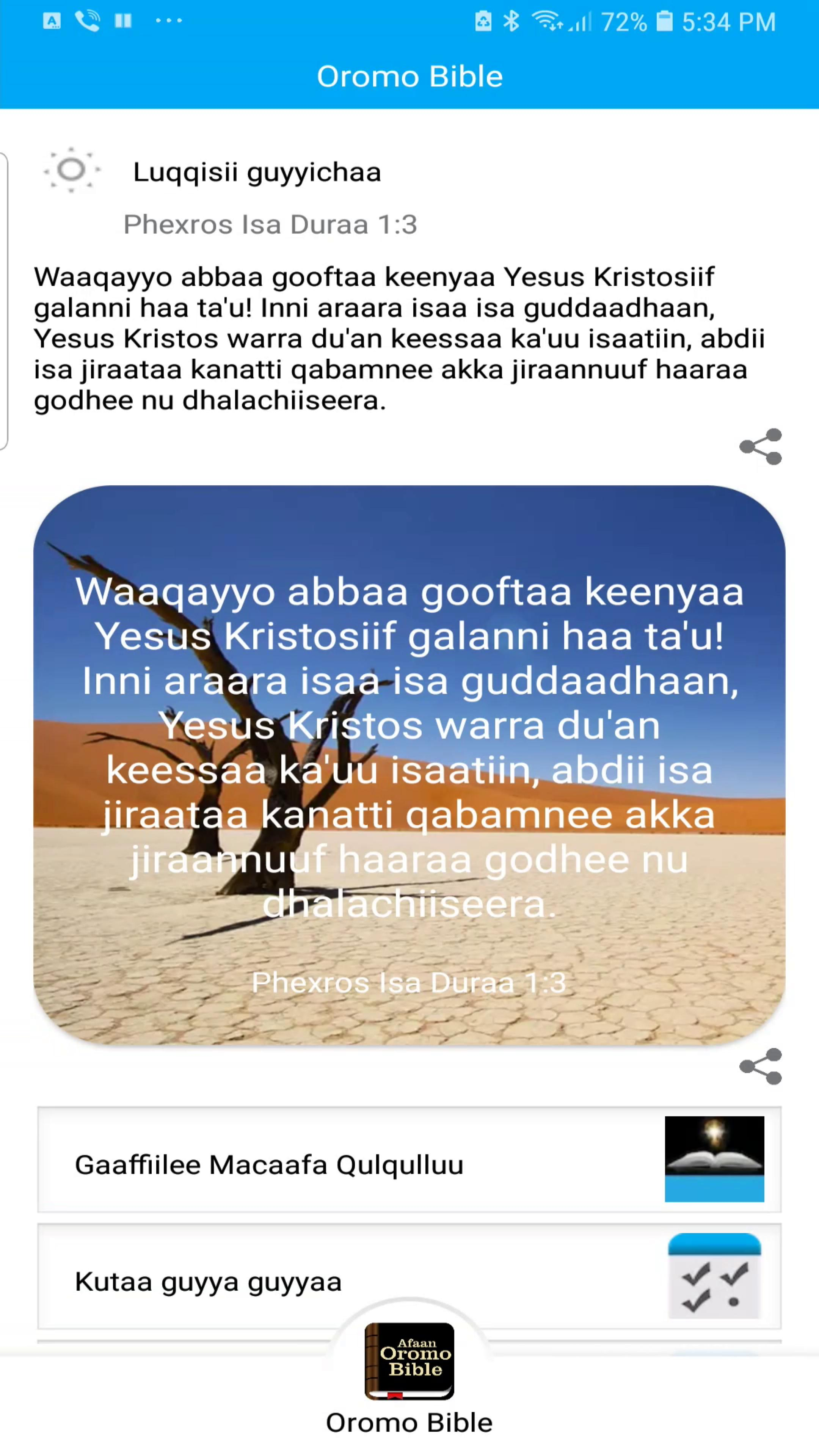 Oromo Bible for Android - APK Download