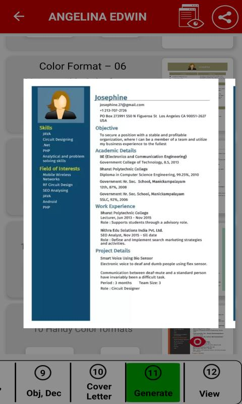 Resume Builder App Free Cv Maker Pdf Templates For Android Apk Download