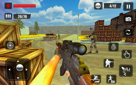 Counter Terrorist Stealth Mission Battleground War تصوير الشاشة 10