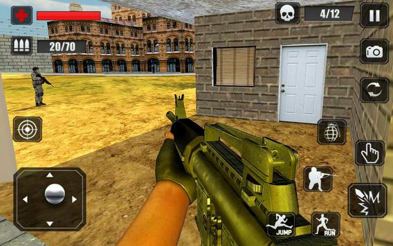 Counter Terrorist Stealth Mission Battleground War تصوير الشاشة 13