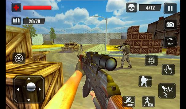 Counter Terrorist Stealth Mission Battleground War تصوير الشاشة 9