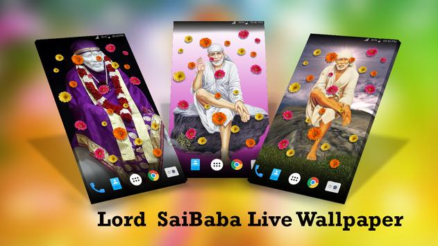 HD Lord SaiBaba Live Wallpaper poster