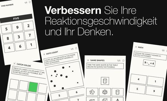 Reaktionstraining Plakat