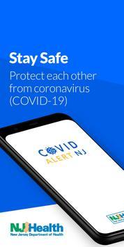COVID Alert NJ poster