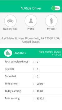 NJRide Driver imagem de tela 11