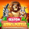 Icona stagione africa puzzle