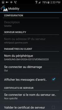 NetMotion Mobility® capture d'écran 1