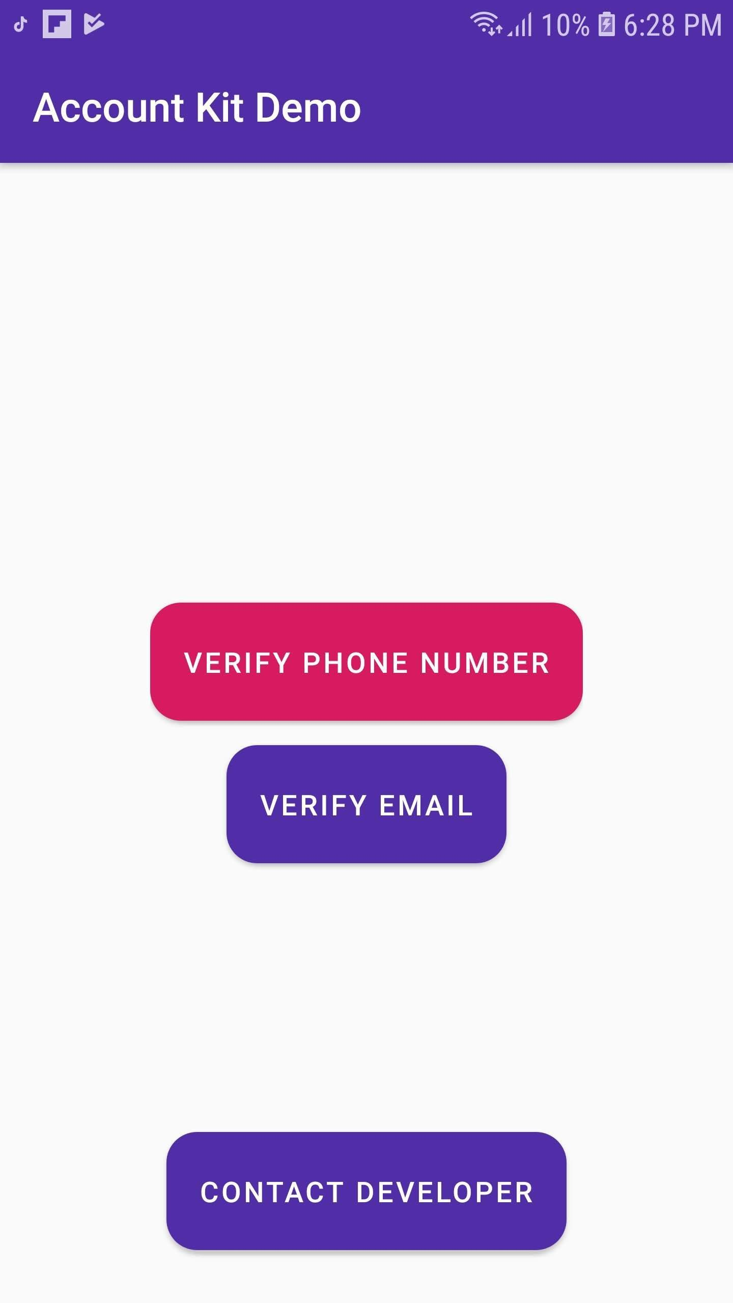Account Kit Verify Phone / Email Demo for Android - APK Download