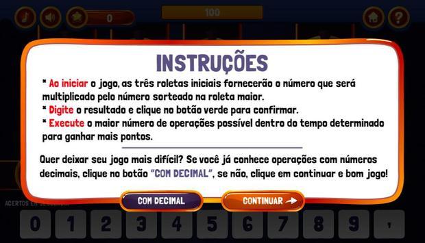 Roletas da Multiplicação screenshot 1