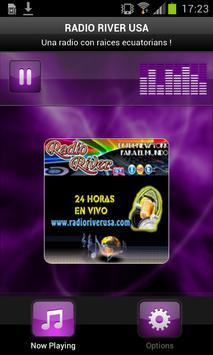 RADIO RIVER USA poster