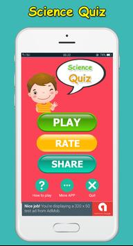 Science Quiz game - fun poster