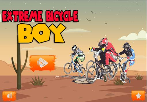 Extreme bicycle Boy poster