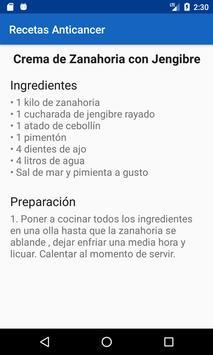 Recetas Anticancer, Comida saludable para sanar screenshot 3