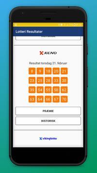 Lotteri Resultater - Norsk screenshot 1