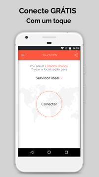Touch VPN Proxy Gratuita Ilimitada |Segurança WiFi imagem de tela 1