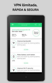 Touch VPN Proxy Gratuita Ilimitada |Segurança WiFi imagem de tela 8