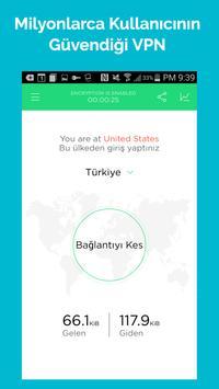 Touch VPN Proxy | Ücretsiz Güvenlik VPN Programı Ekran Görüntüsü 3