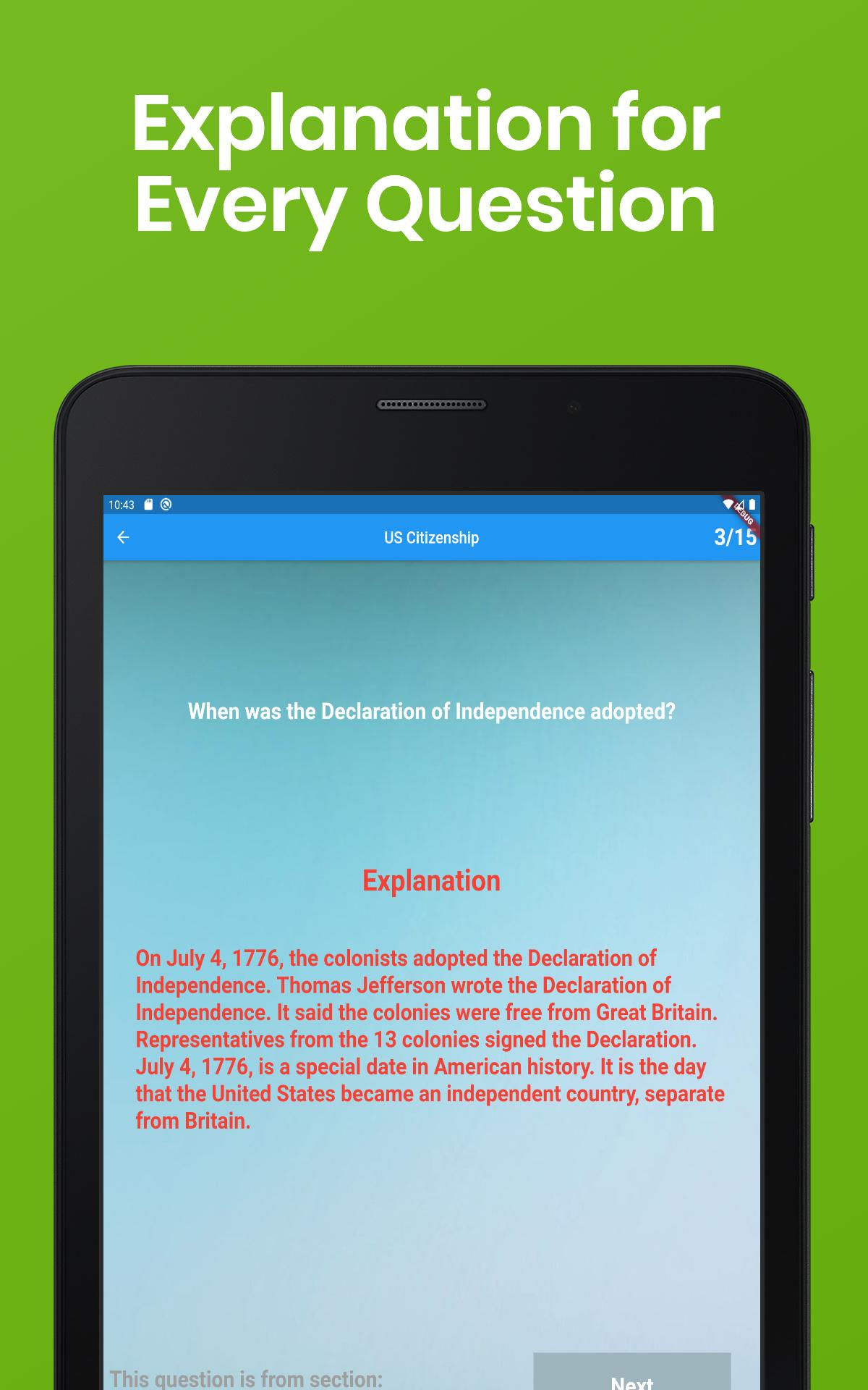 US Citizenship Test 2020 - Free App for Android - APK Download