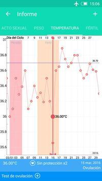 Registro del periodo ovulación captura de pantalla 4