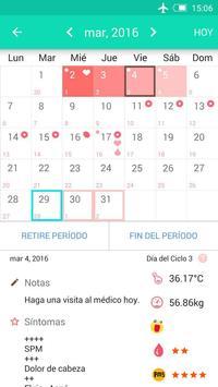 Registro del periodo ovulación captura de pantalla 1