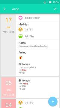 Registro del periodo ovulación captura de pantalla 2