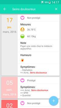 Suivi des règles et ovulation capture d'écran 2