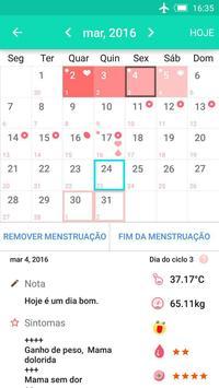 Calendário período da ovulação imagem de tela 1