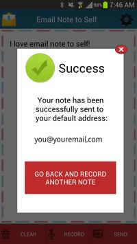 Email Note to Self screenshot 3